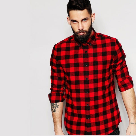 Buffalo Plaid Shirt with Long Sleeves - TakeClothe - 1