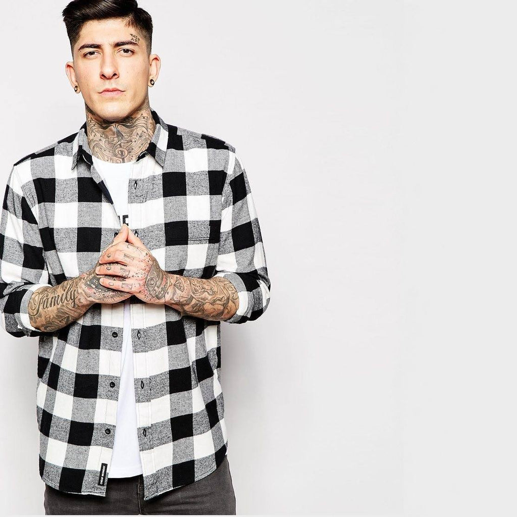 Shirt Neo Flannel Square Check - TakeClothe - 1