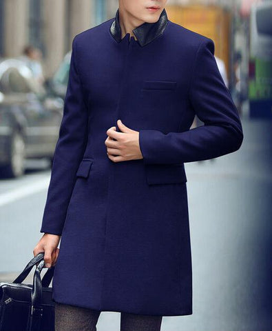 Exclusive Modern Coat in Blue (S, M) - TakeClothe - 1