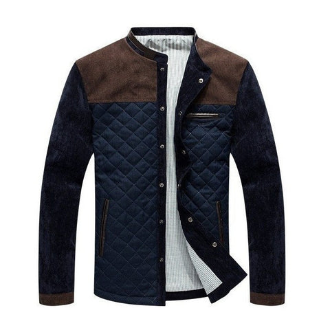 Quilted Jacket with Contrast Insert (3 Colors) - TakeClothe - 1