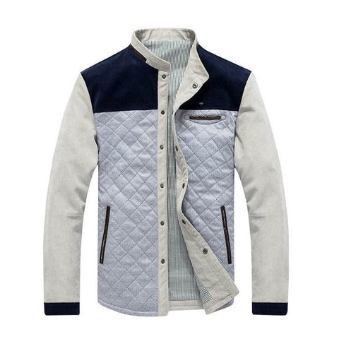 Quilted Jacket with Contrast Insert - TakeClothe - 1