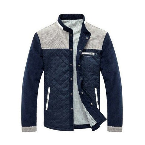 Quilted Jacket with Contrast Insert - TakeClothe