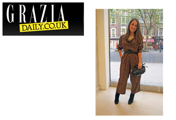 """Hannah Almassi with the Alicia bag"" - Grazia Daily"