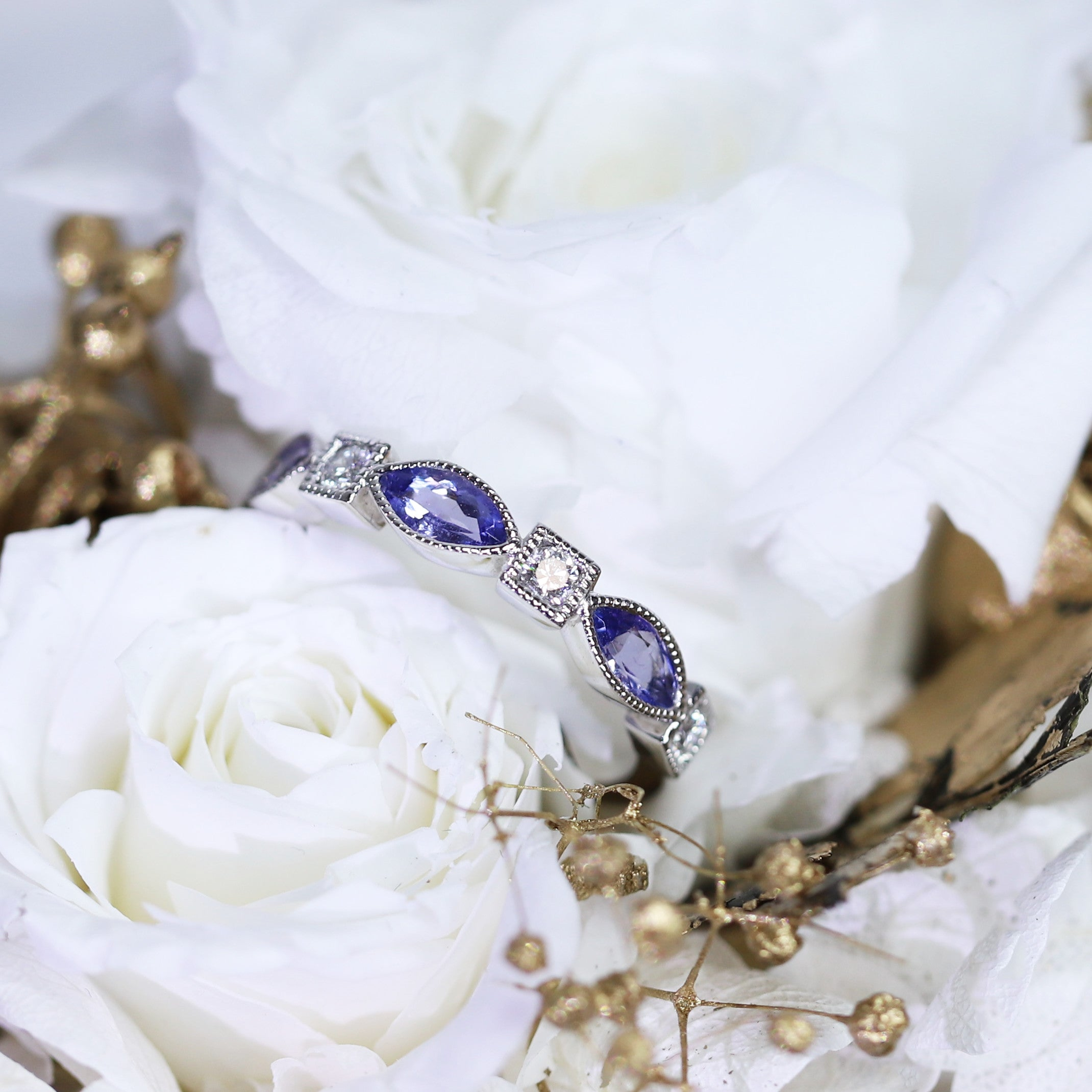 Tanzanite Stacker Ring