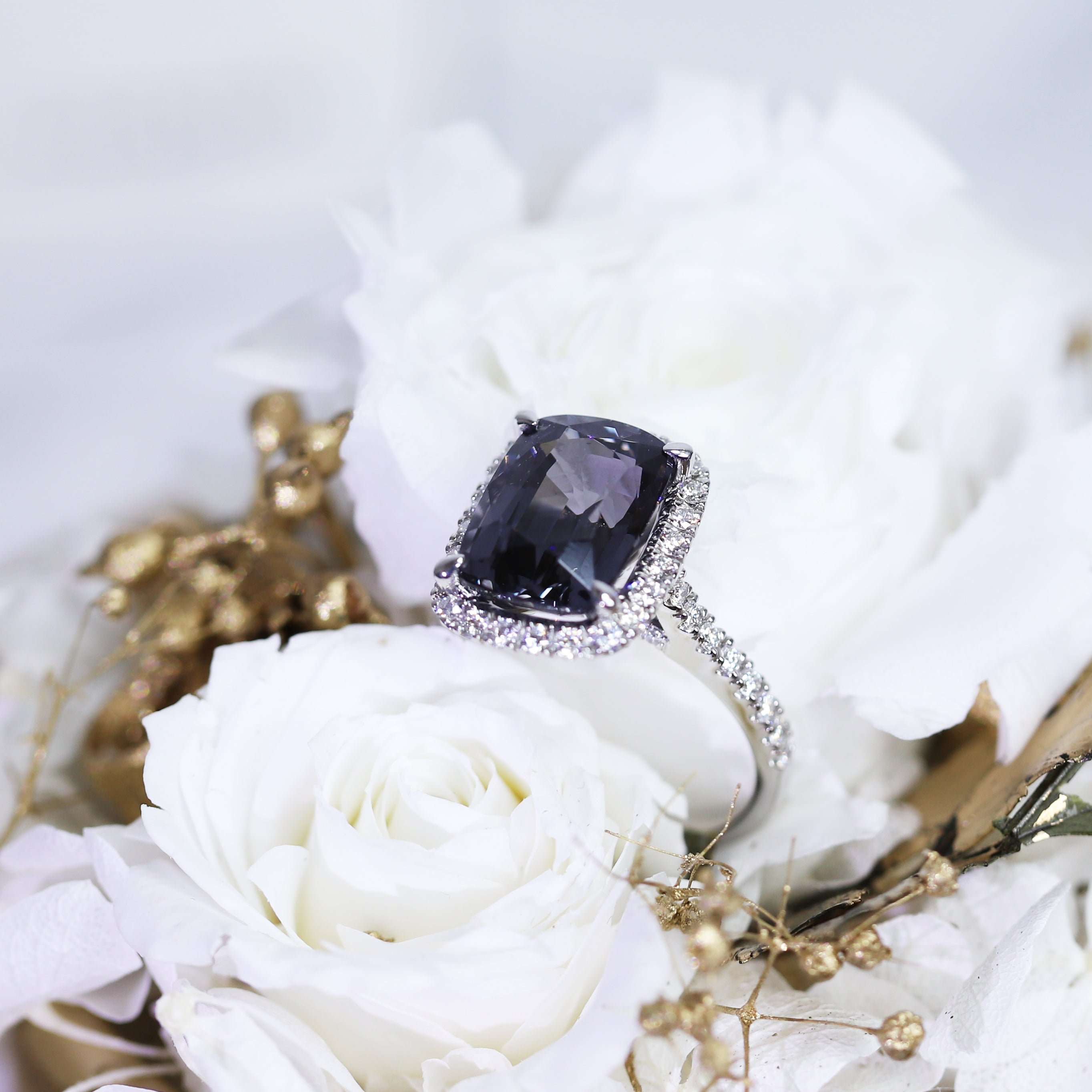 5.80ct Purple/Grey Burmese Spinel
