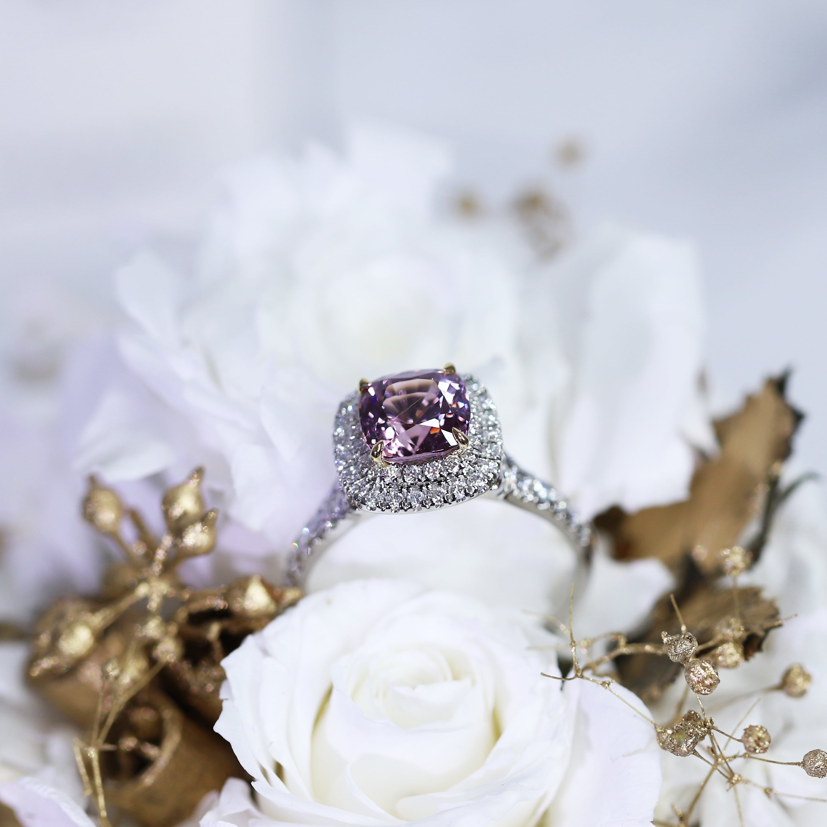 2.62ct Cushion Pink Burmese Spinel