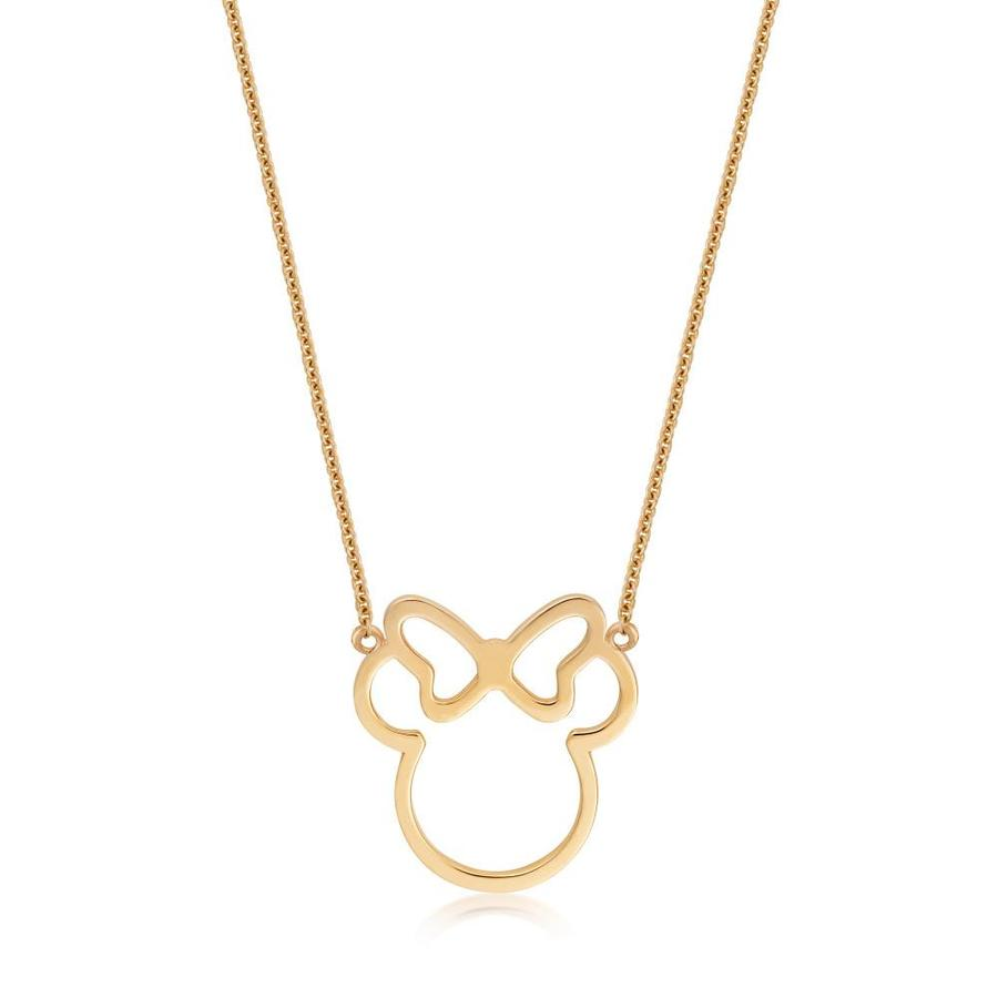 Disney Precious Metal Minnie Mouse Outline Necklace