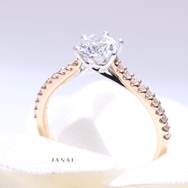 0.85ct Solitaire Diamond Ring with Sides
