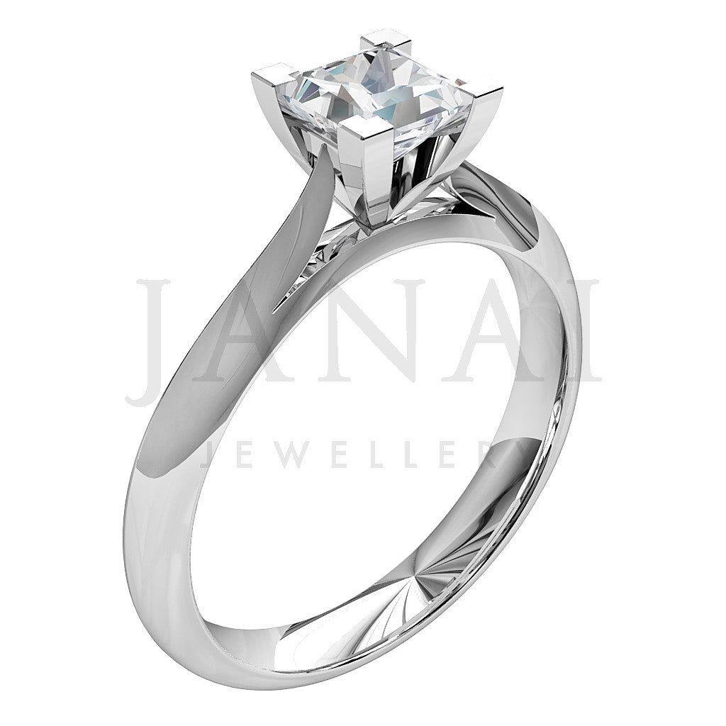 Princess shape Diamond Solitaire Engagement Ring