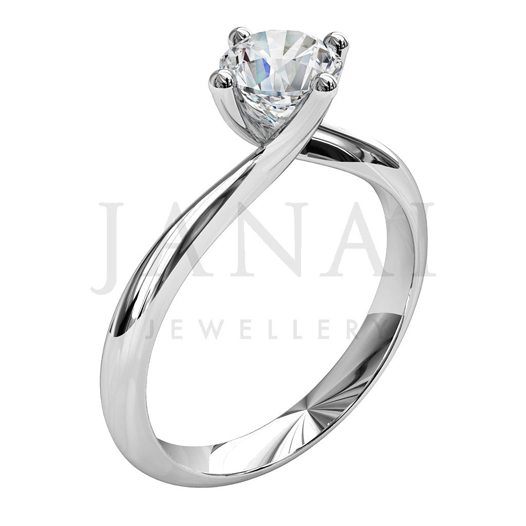 Brilliant Round Cut Diamond Solitaire Engagement Ring