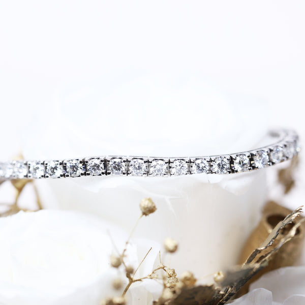 Italian-made Tennis Bracelet with 3.57ct Mined Diamonds