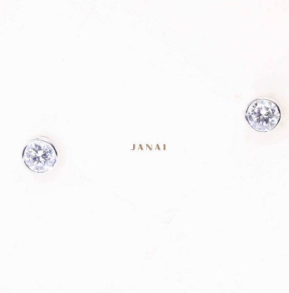 Lab Grown Diamond Bezel Set Studs