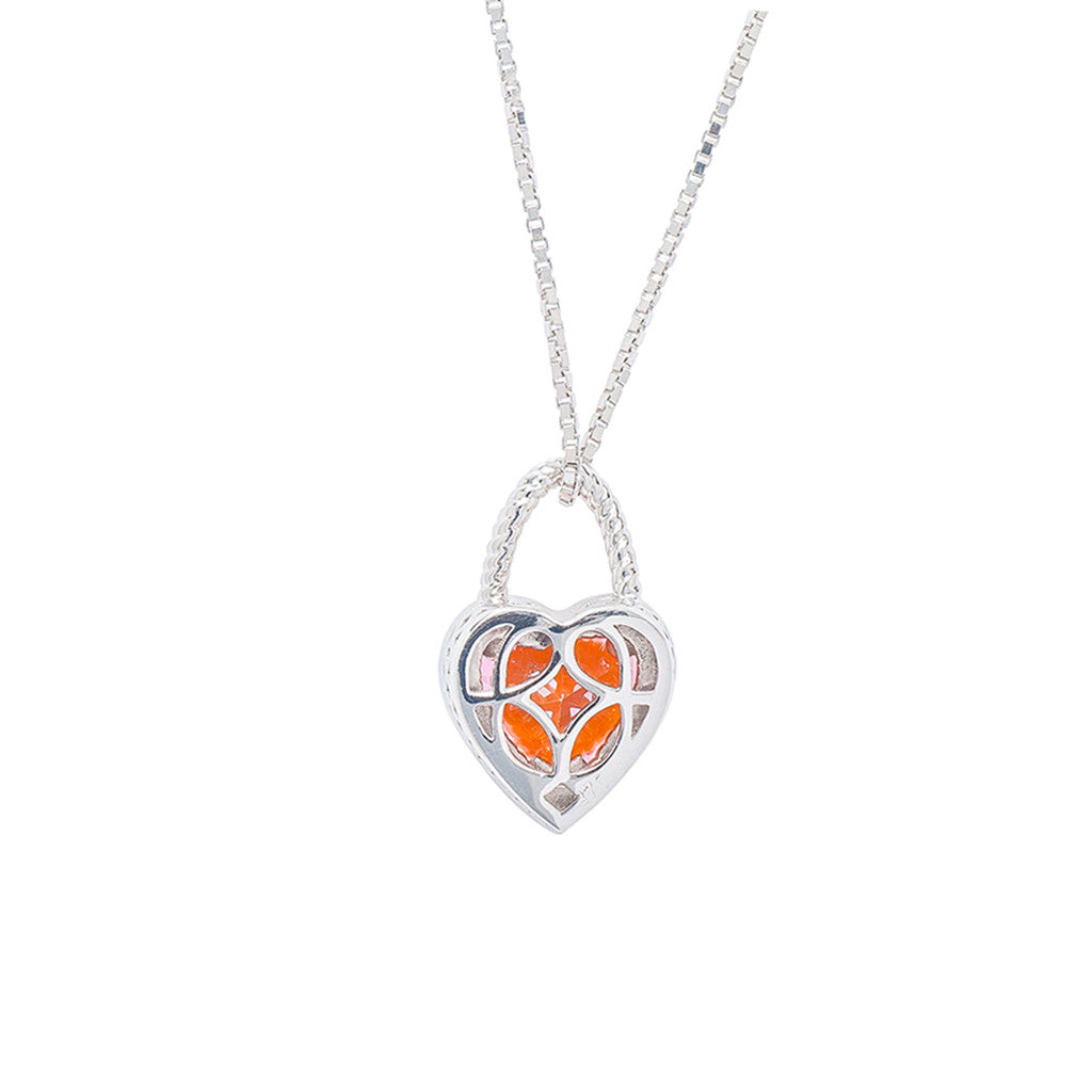 9ct White Gold Heart Pendant