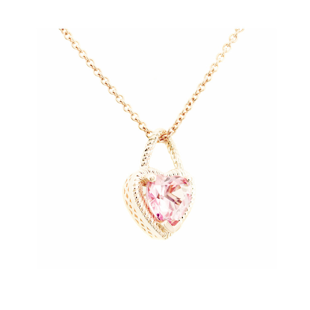 Adore Yellow Gold Heart Pendant