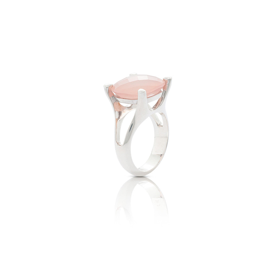 Radiant Silver Cocktail Dress Ring
