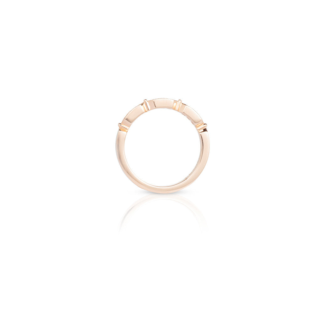 Rose Gold Ladies Stackable Ring