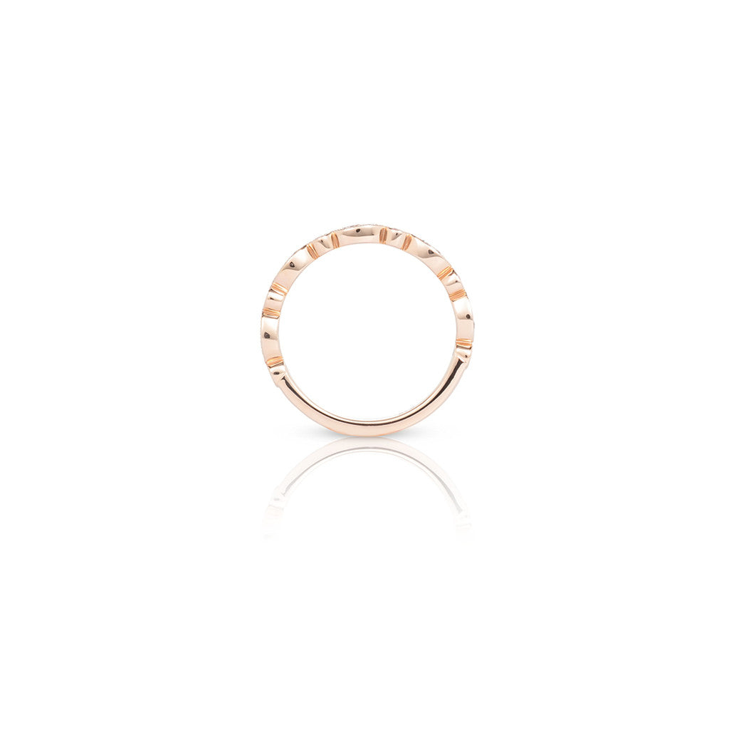Grace Rose Gold Ladies Stackable Ring