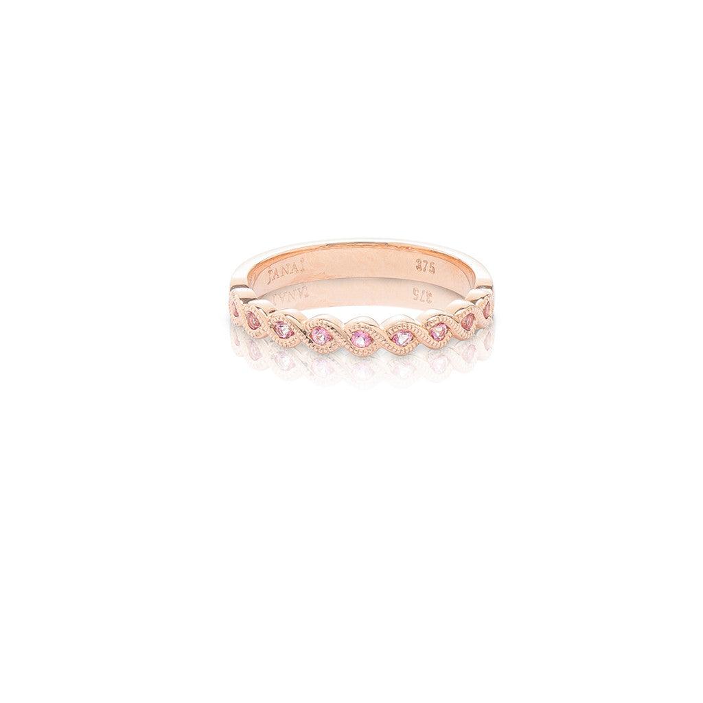 Rose Gold Stackable Ring Baby Pink Topaz