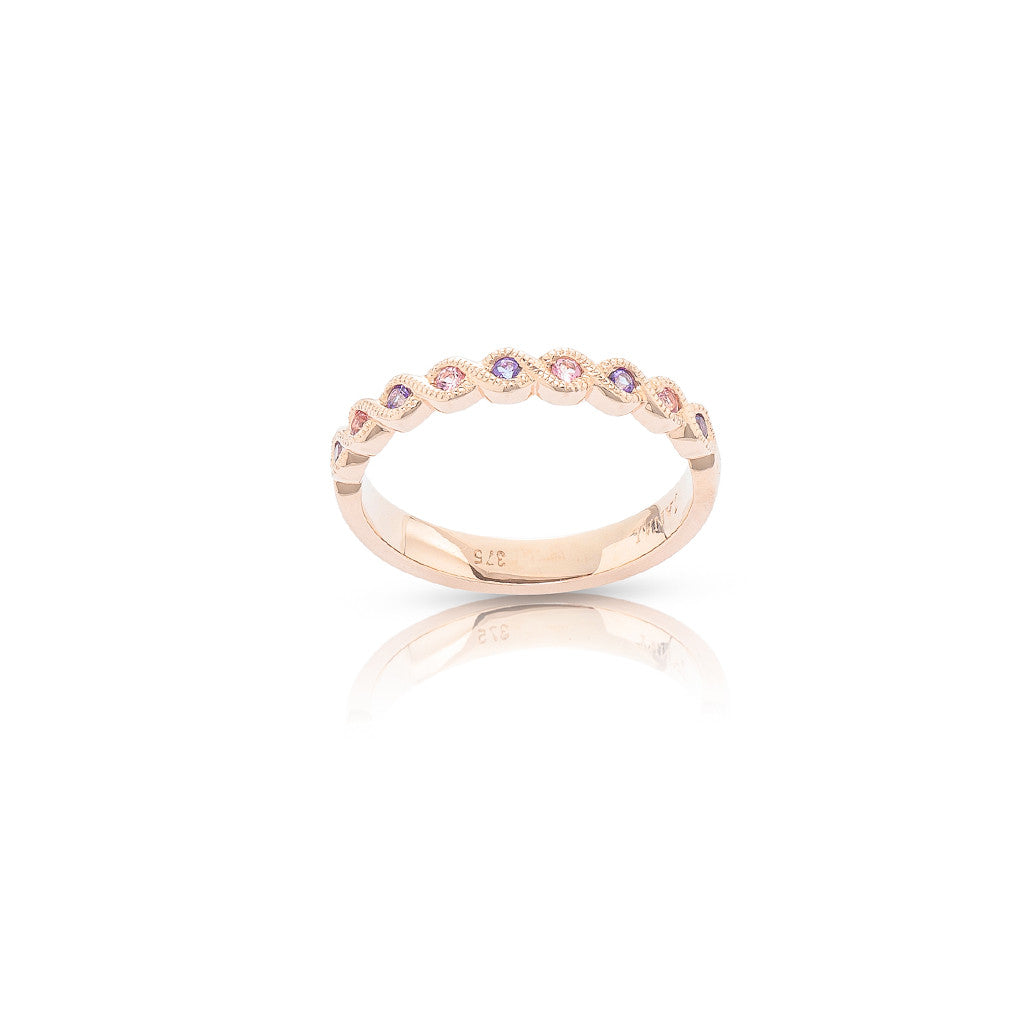 Rose Gold Stackable Ring Baby Pink