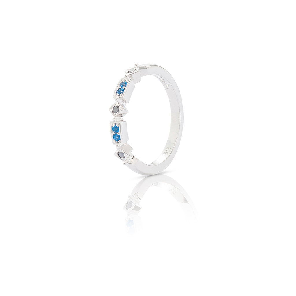 White Gold Ladies Stackable Ring