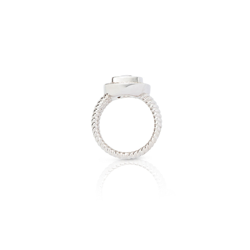 9ct White Gold Cirque Dress Ring
