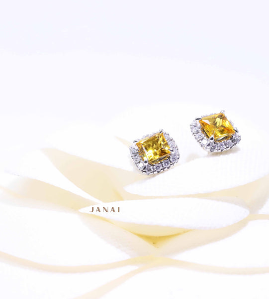 Princess Golden Sapphires Earrings