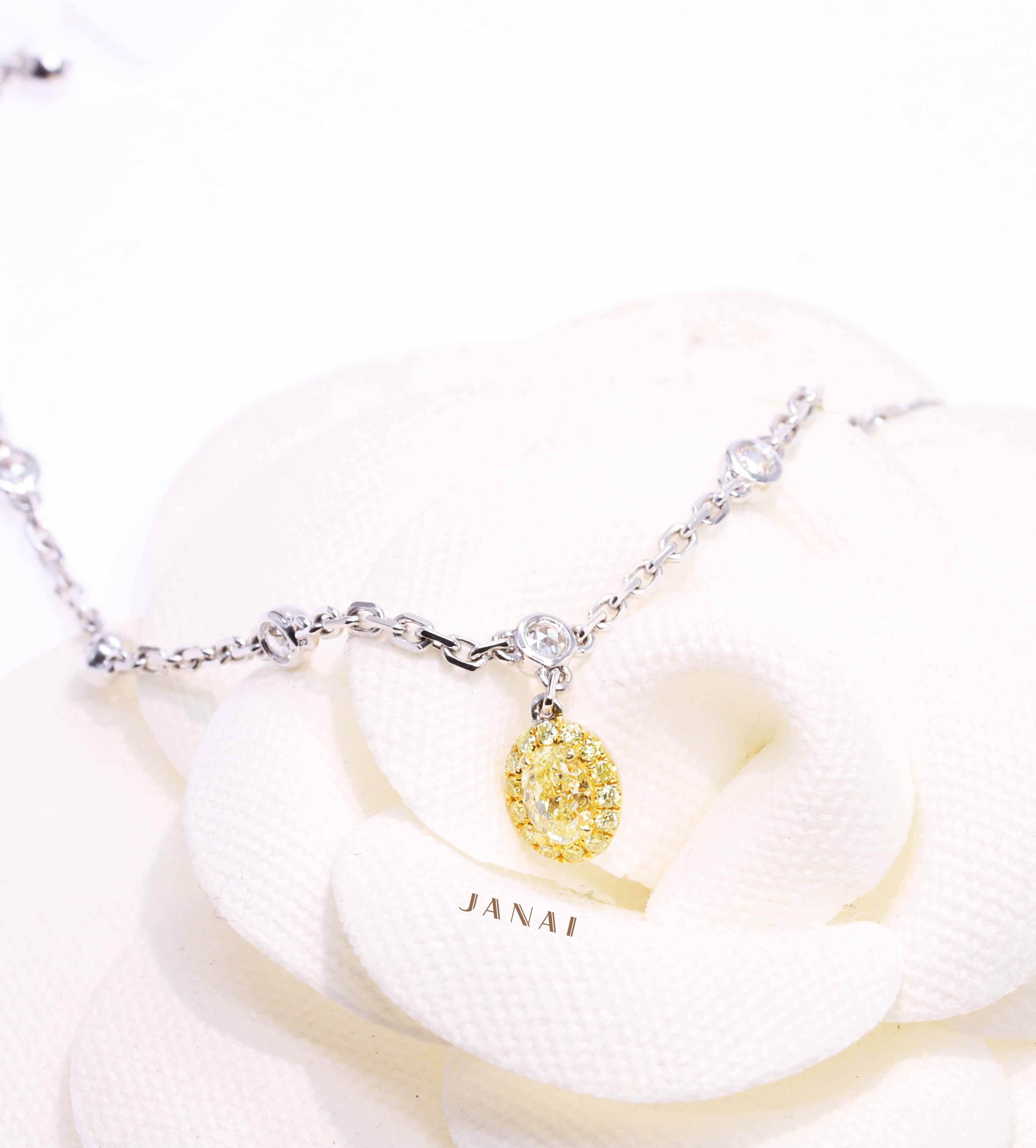 Oval Fancy Yellow Diamond Bracelet