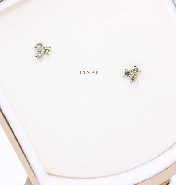 Green Diamonds Earrings