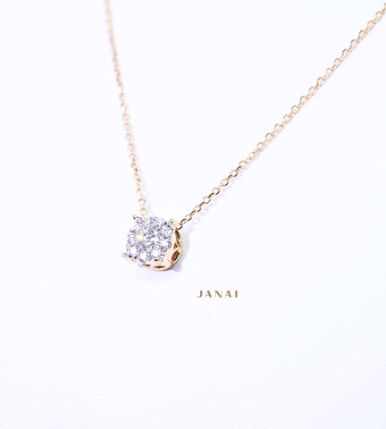 Illusion Set DIamond Pendant