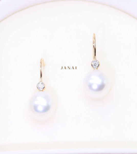 Round South Sea Pearl Earrings
