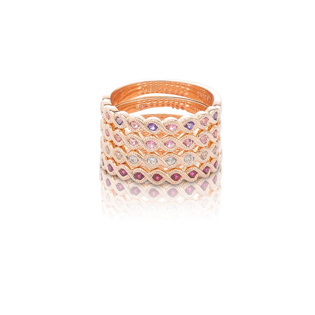 stackable ring rose gold baby pink