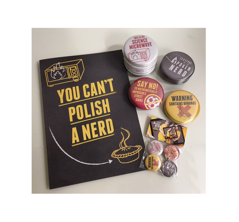 """You Can't Polish A Nerd"" tour merch"