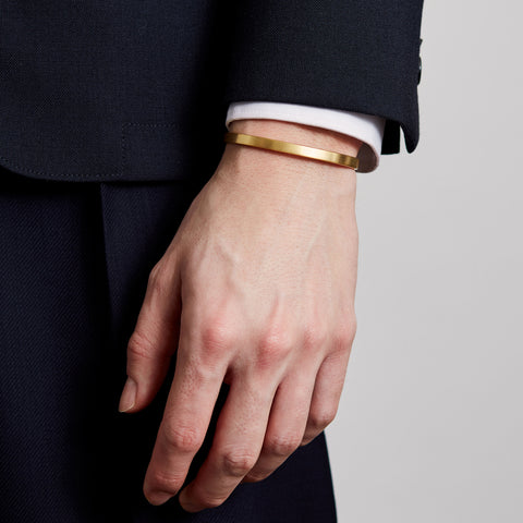 5MM BRUSHED CUFF / gold - alexorso