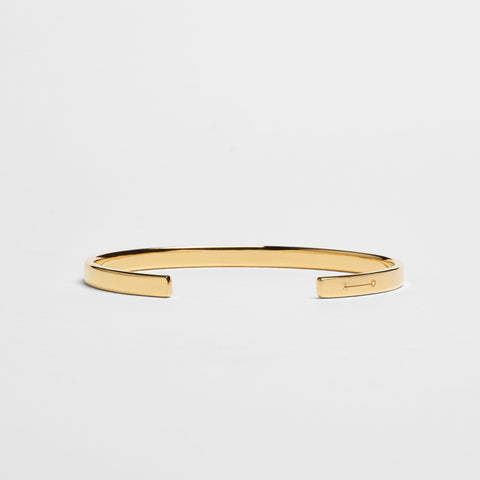 5MM POLISHED CUFF / gold - alexorso