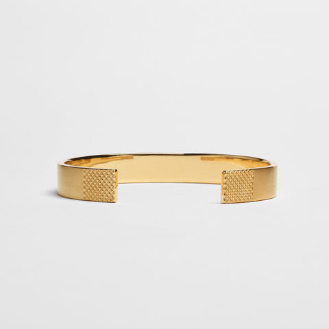 10MM GRID CUFF / Gold - alexorso