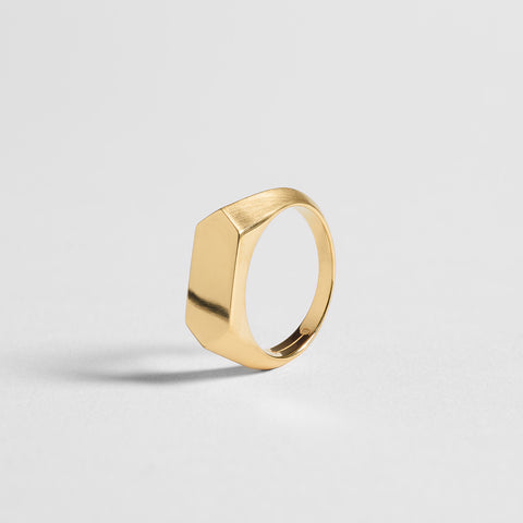 HEX SIGNET RING / gold - alexorso