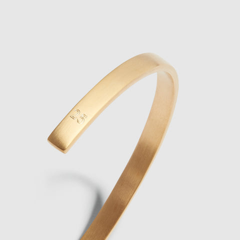 5MM BRUSHED CUFF / gold