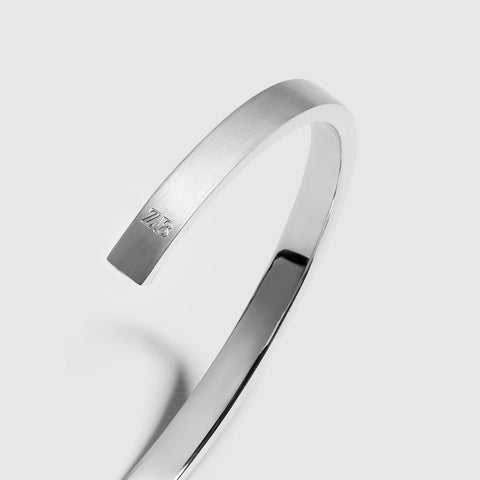 7MM CUFF / silver + black diamond - alexorso