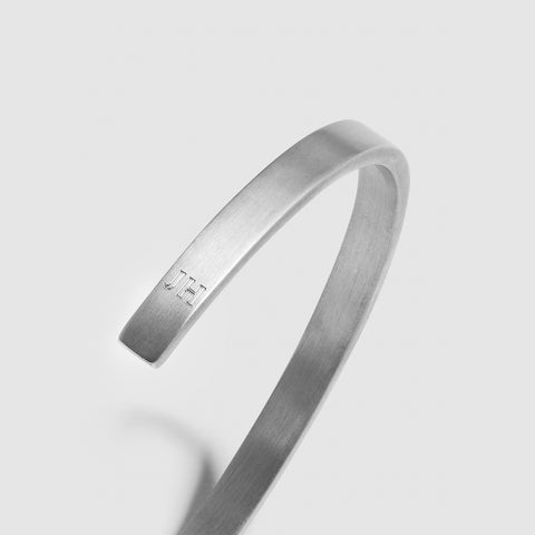 5MM BRUSHED CUFF / silver - alexorso