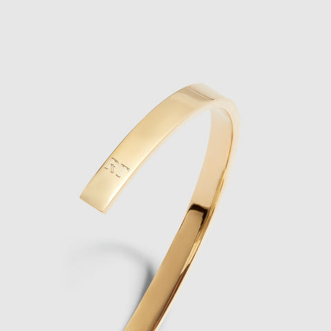 5MM POLISHED CUFF / gold
