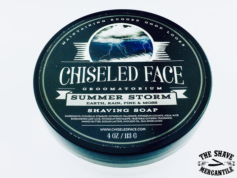 Chiseled Face Tallow Shave Soap - Summer Storm