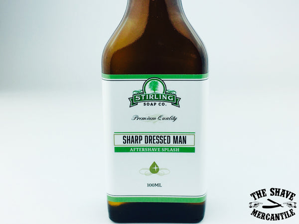 Stirling Soap Co. - Sharp Dressed Man - Aftershave Splash - 100ml.