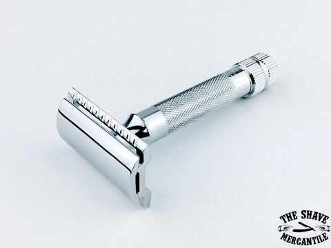 Merkur 34C Heavy Duty Double Edge Safety Razor, Extra Thick Handle, Chrome