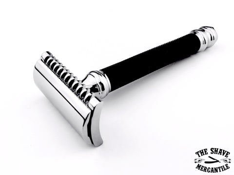 Parker 26C Open Comb Double Edge Safety Razor - Black