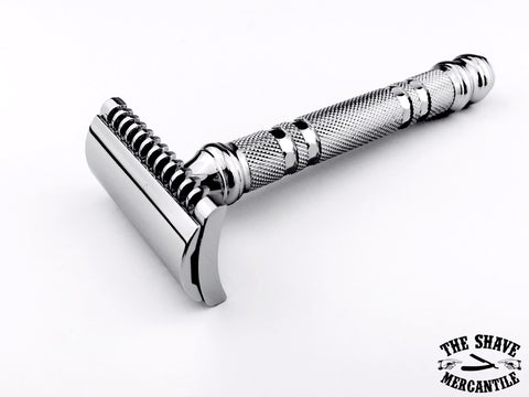 Parker 24C Open Comb Double Edge Safety Razor - Chrome