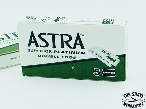 Astra Superior Platinum Double Edge Razor Blades (pack of 5)