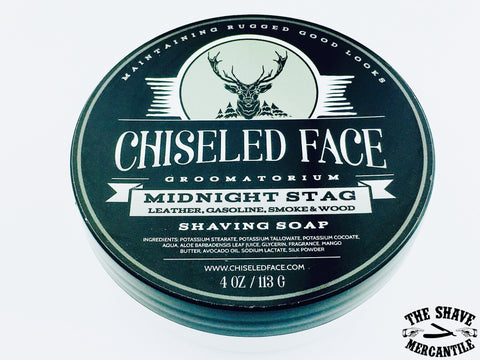 Chiseled Face Tallow Shave Soap - Midnight Stag