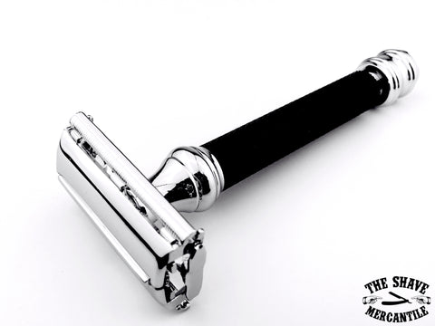 Parker 76R Butterfly Open Double Edge Safety Razor - Black