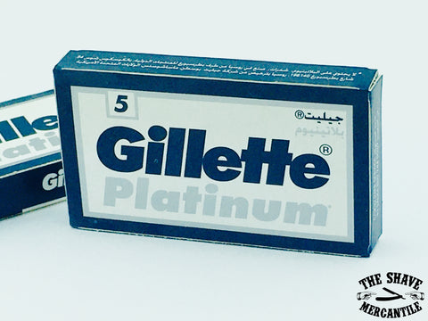 Gillette Platinum Double Edge Razor Blades (pack of 5)