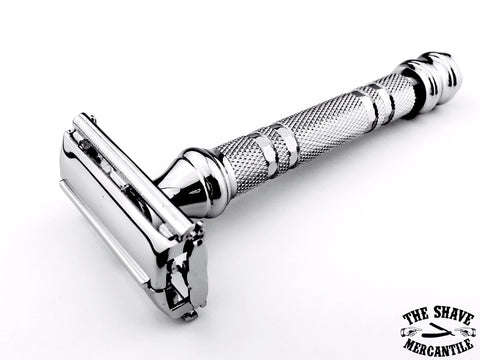 Parker 66R Butterfly Open Double Edge Safety Razor - Chrome